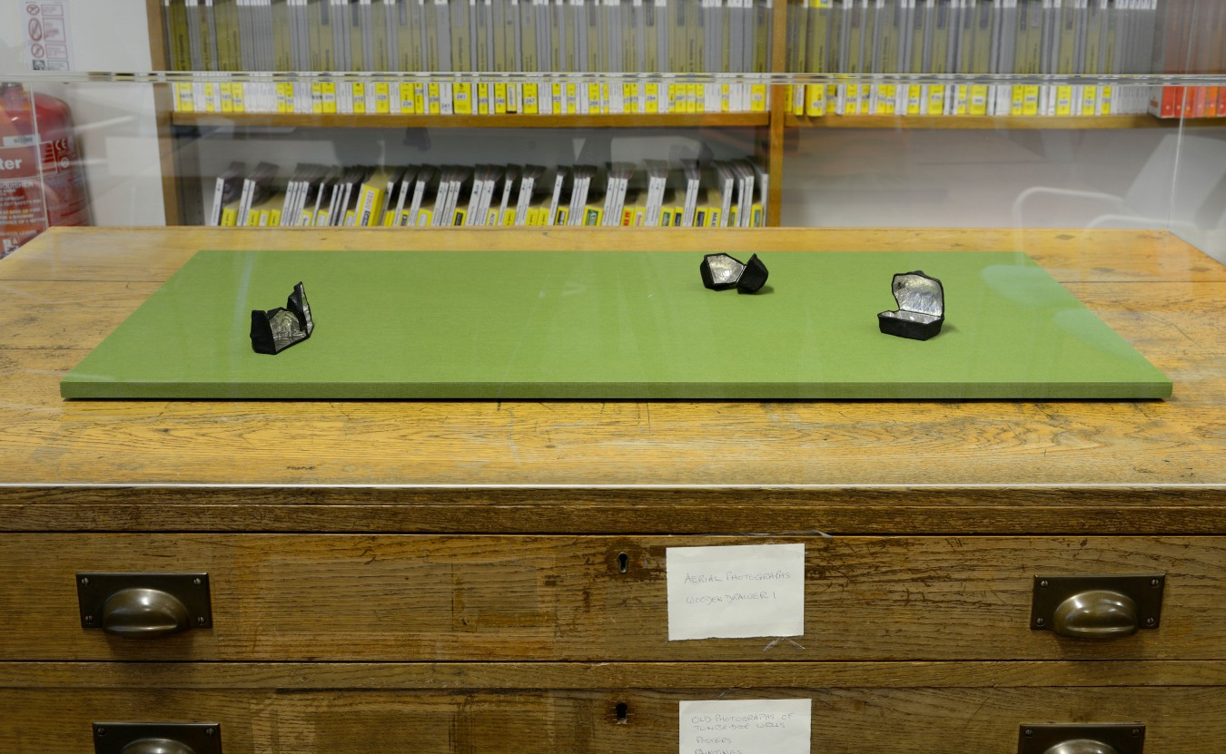 'Housed', an installation displayed in the Reference Library at Tunbridge Wells.