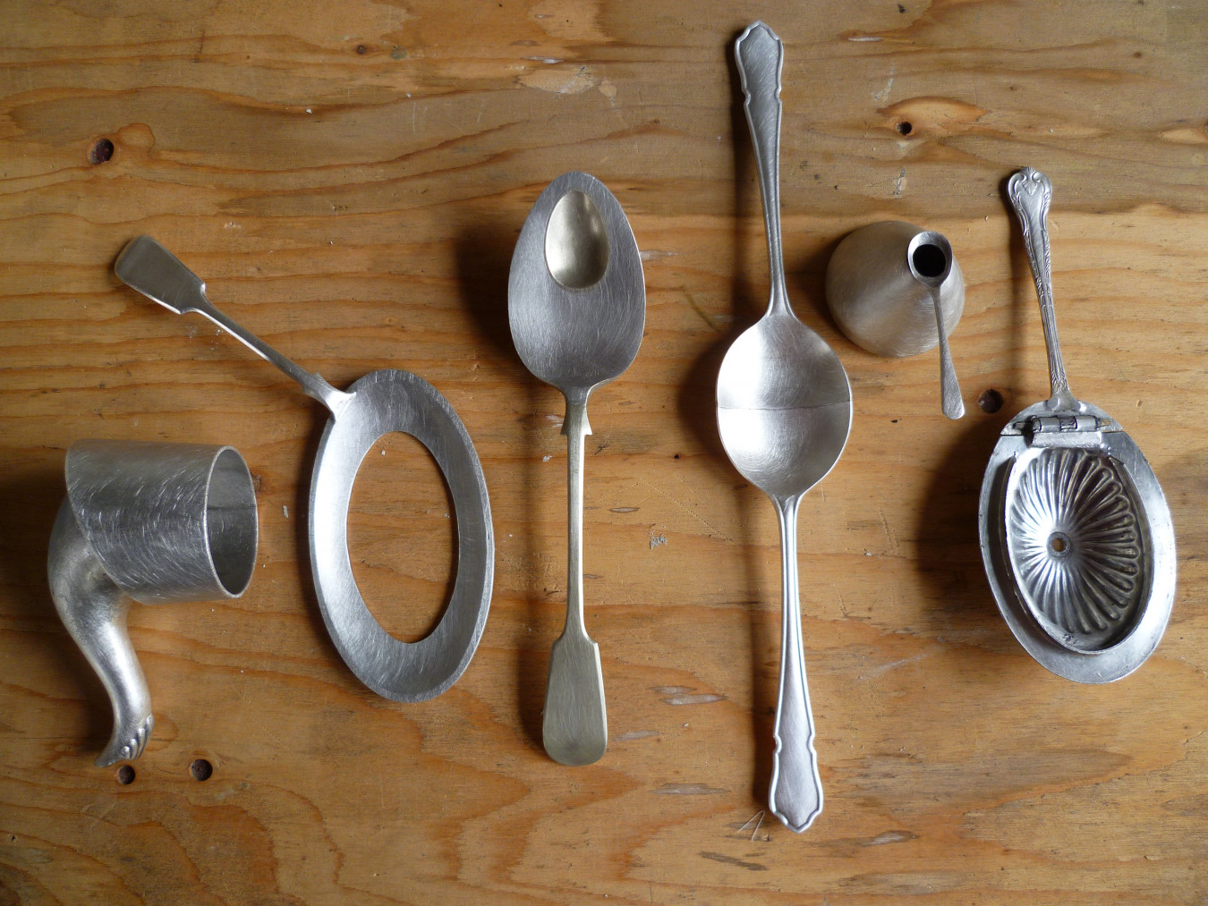 Image showing the collection of spoons