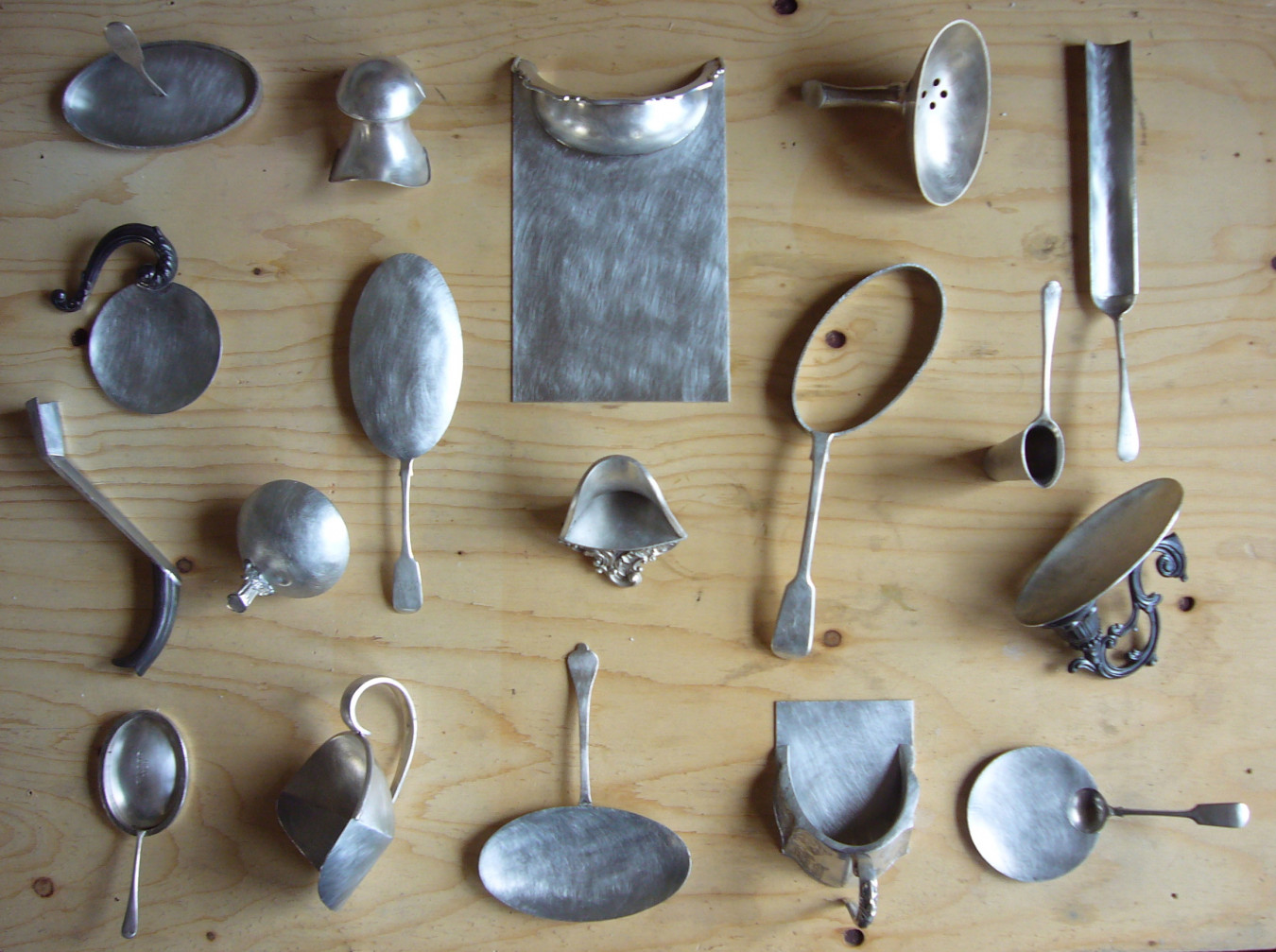 Image of the first series of spoons playing with form and function