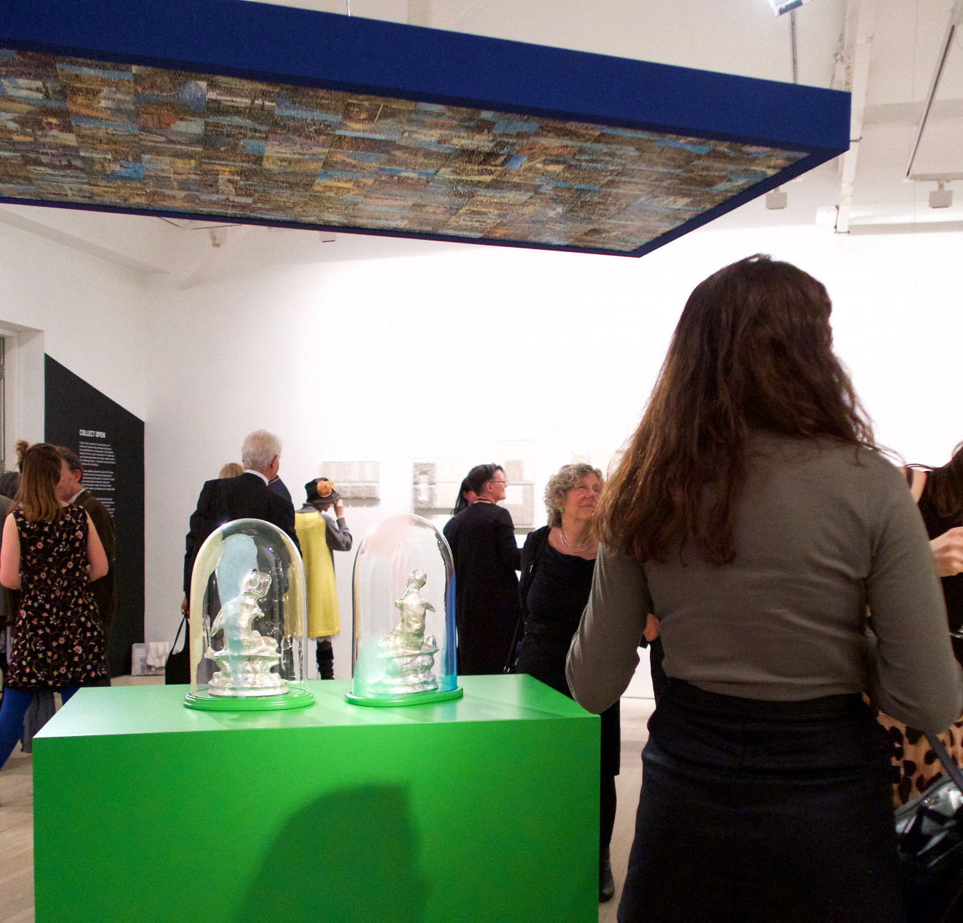 'ROOM' installed at Saatchi Gallery, London with vistors viewing the work in the gallery space.